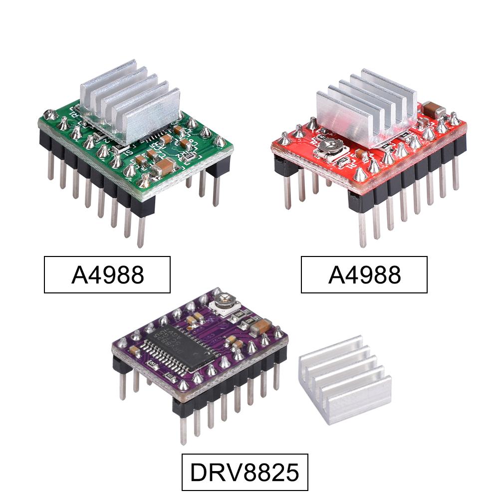 2PCS A4988 Reprap Schrittmotortreiber-Modul mit Kuehlkoerper DIY fuer 3Y6P1 20X