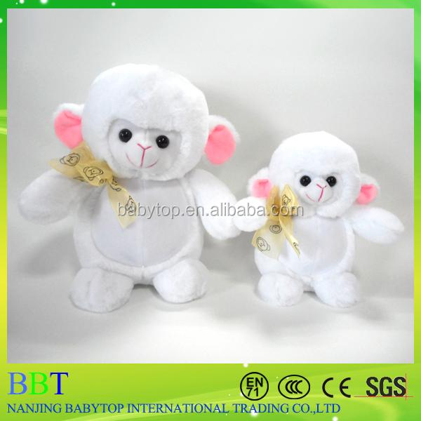 Custom Stuffed Animals Cute soft sheep plush toy with bow tie