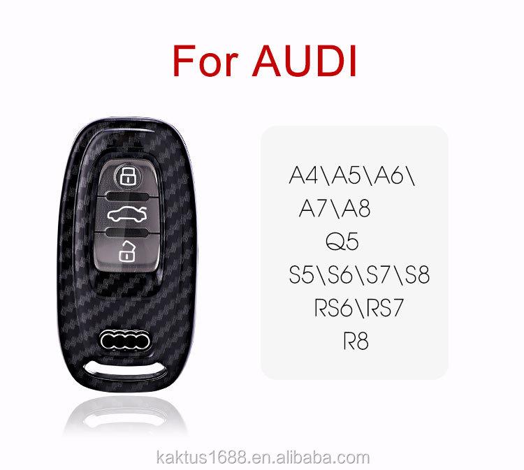 Для AUDI Q5 R8 A4 \\ A5 \\ A6 \\ A7 \\ A8 S5 \\ S6 \\ S7 \\ S8 RS6 \\ RS7 ключи корпус из углеродистой стали катод чехол Корпус для автомобильного ключа