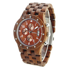 BEWELL деревянные мужские часы люксовый бренд кварцевые наручные часы с полным календарем время Прямая поставка от поставщика 109D(Китай)