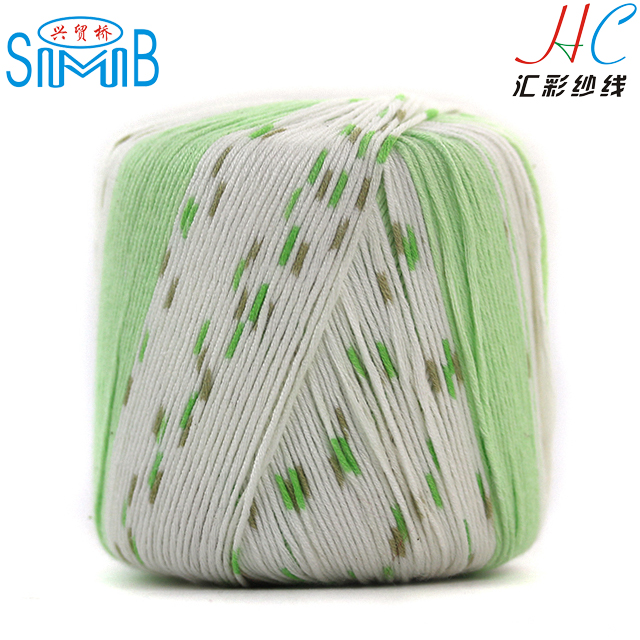 factory wholesale High quality Space Dye Cotton bamboo Blend Yarn soft and comfortable blend yarn for spring cloth