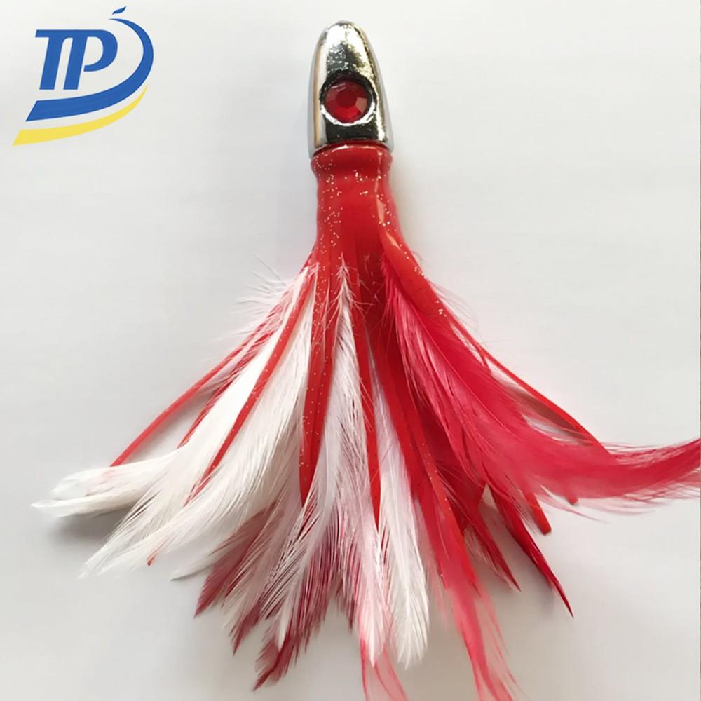 Tuna feathers lures fishing