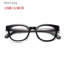 Готовые Очки для близорукости для мужчин и женщин овальная оправа из поликарбоната прозрачные линзы очки для старшей школы по рецепту-1-1,5-2-2...(Китай)