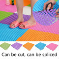DIY carpet 24 24cm Candy Colors Plastic Bath Mats Easy Bathroom Massage Carpet Shower Room Rubber