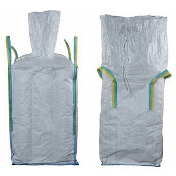 polypropylene woven big FIBC bulk, super sack, jumbo bag, with top fill spout and flat bottom