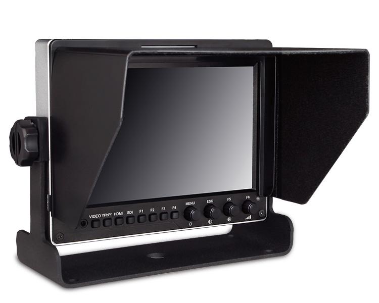 Durable aluminum design 1280*800 high resolution small hdmi sdi YPbPr input lcd monitor 7 inch camera stabilizer vest