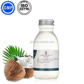 OEM and ODM service excellent teeth whiter food grade coconut oil spearmint oil pulling