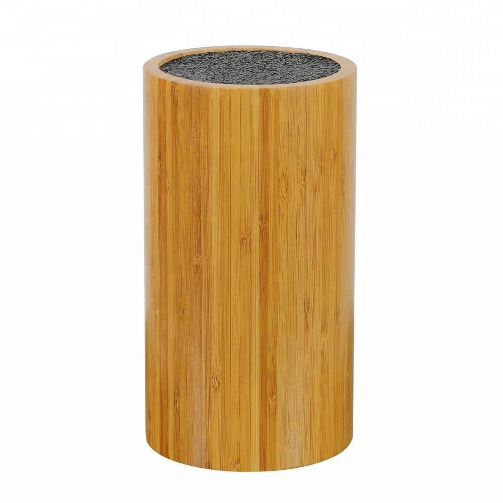 Экологически чистый круглый держатель для ножей, бамбуковый блок для ножей