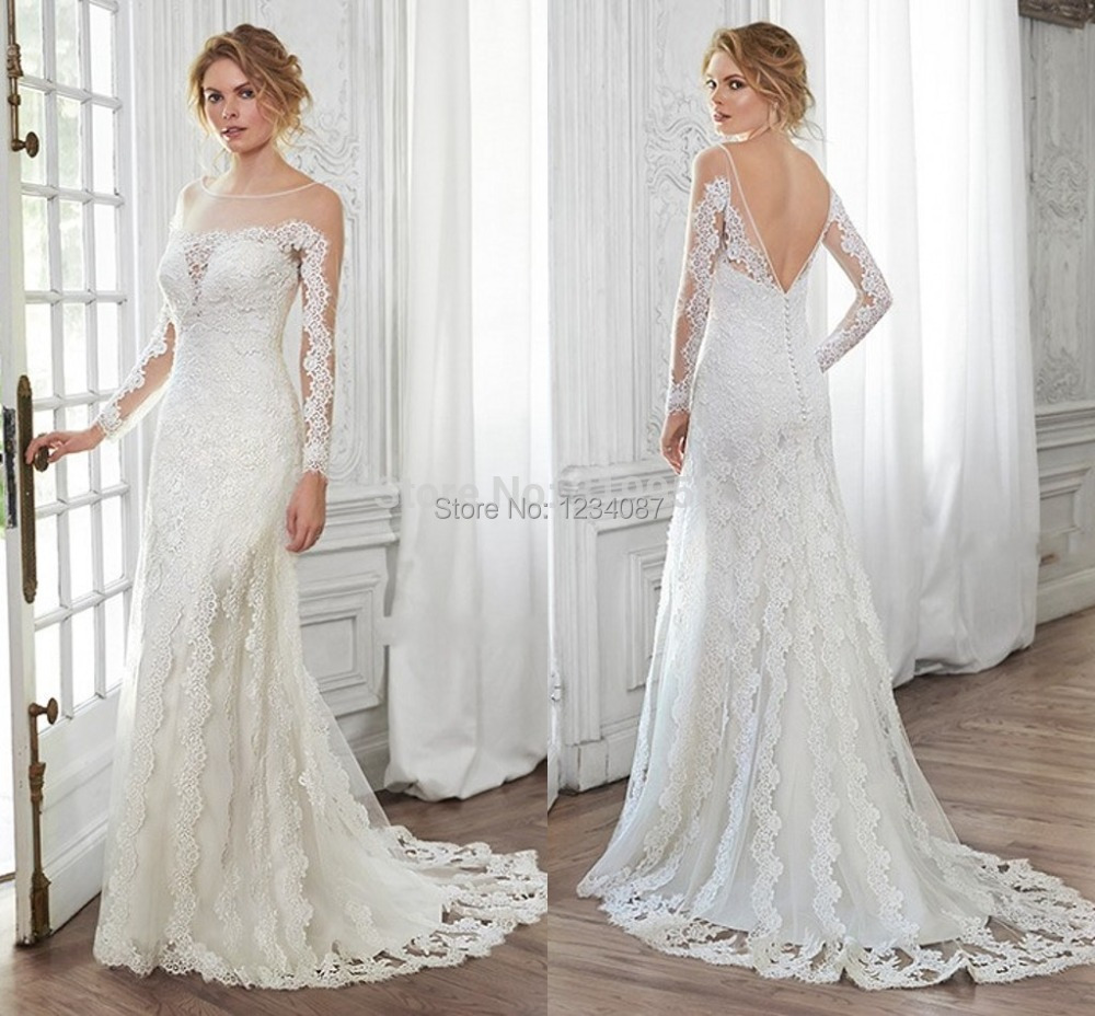 Vintage Wedding Dresses 2015 With Full Sleeve Sexy