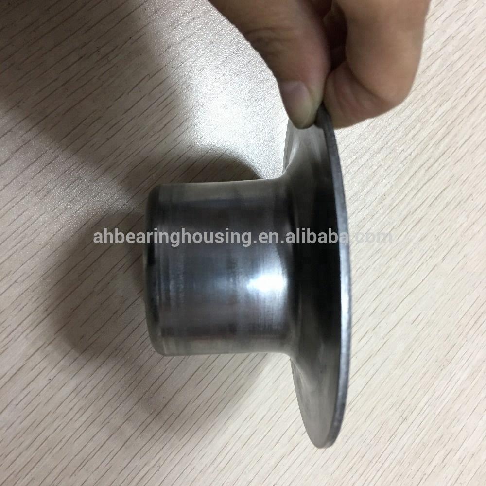 Idler roller stainless steel pipe end cap