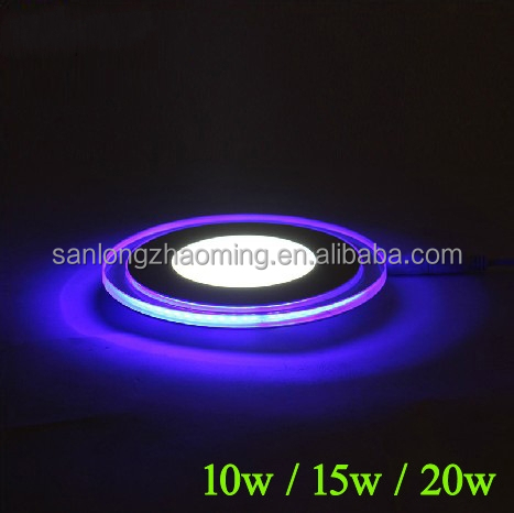 SMD2835 color led panel light led glass ceiling light panel colorful lights