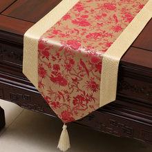 Гордая Роза, китайский стиль, атласная настольная дорожка, скатерть, домашний декор, настольный флаг с кисточкой, креативный Настольный чех...(Китай)