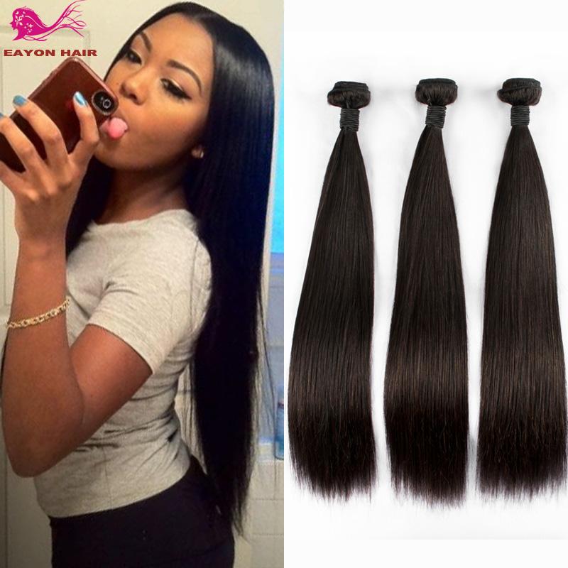 Solve 7a Top Quality Brazilian Virgin Hair Straight 3pcs Lot