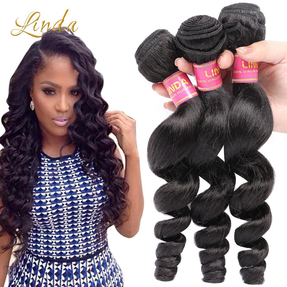 Malaysian Virgin Hair Loose Wave Rosa Hair Products Malaysian Loose Wave 4 Bundles Human Hair 7A
