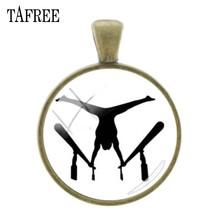 Подвески TAFREE, подвесная Античная бронзовая подвеска, шарм, гимнастическое искусство, картина, сделай сам, брелок и ожерелье, ювелирные аксес...(Китай)