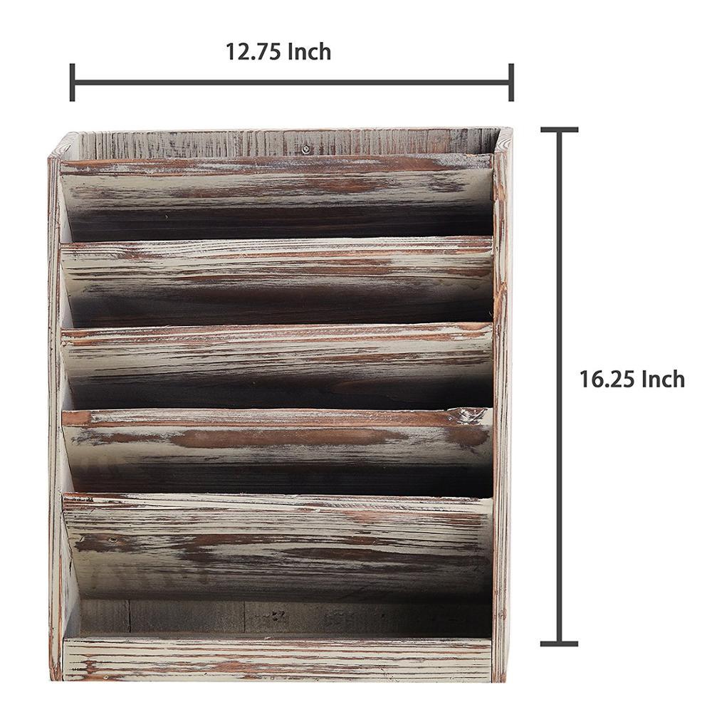 5 Слот деревенский подожгли дерево Организатор хранения документов, настенные журнал стойку