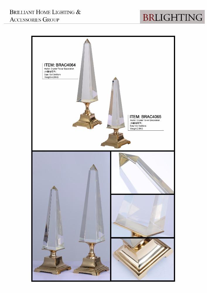 Кристальный обелиск на металлической основе для украшения дома и свадебного декора