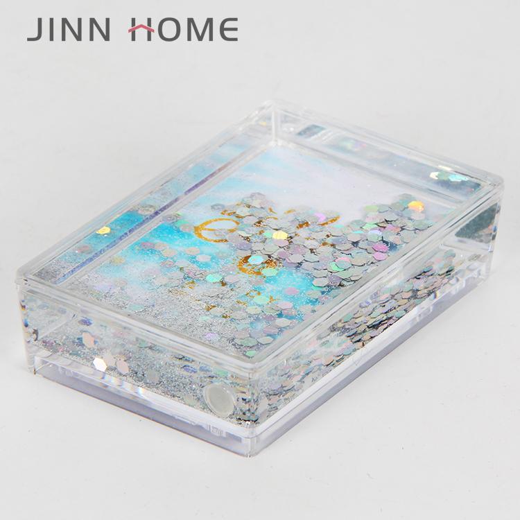 Креативная домашняя декоративная подарочная забавная акриловая плавающая фоторамка с жидкими блестками