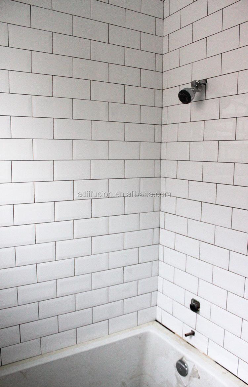 Bevelled Tiles White Glossy Installed 2 Jpg