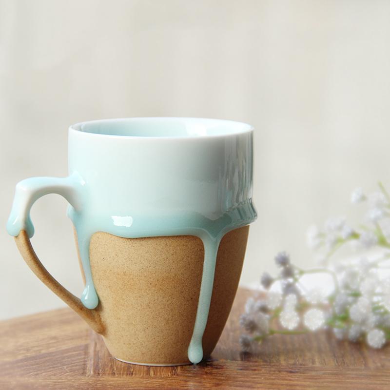 vintage design creative ceramic coffee tea mug,flow glaze ...