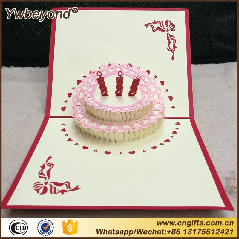 Populaire Ywbeyond 3D Fabriqués À La Main Origami Gâteau D'anniversaire  JK65