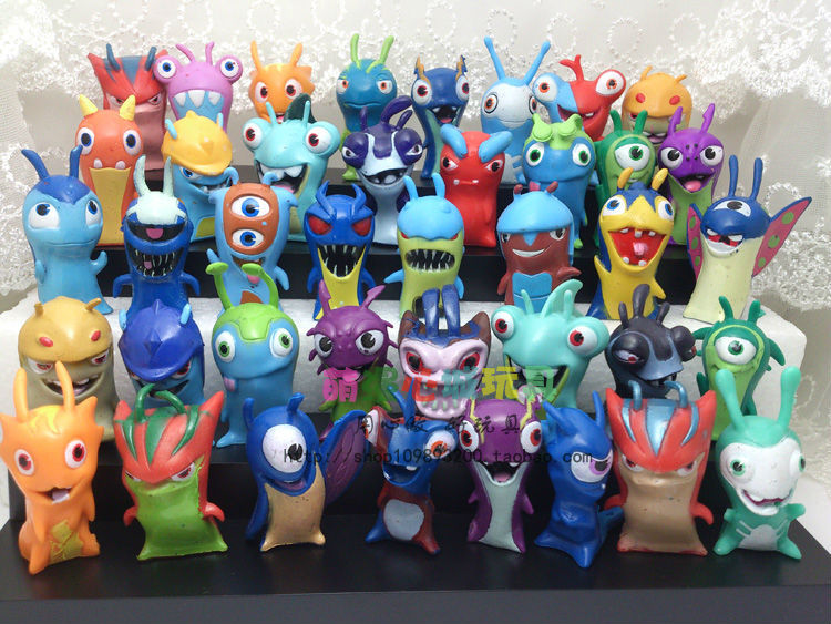 Kids Toys Action Figure: 40cpcs/set Amine Slugterra Mini PVC Action Model FIgure