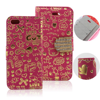For Samsung galaxy S3 Flip Cover, Magic Girl Leather Wallet ID Card Slot