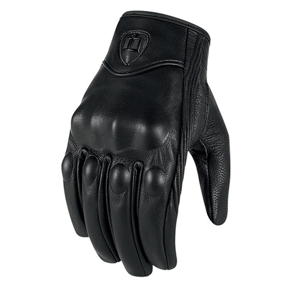Warm winter riding gloves, waterproof leather motorcycle
