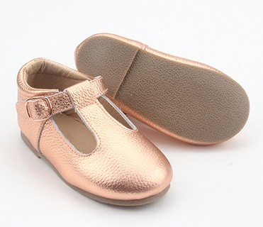 2018 Fashion Tbar Style Pretty Dress Girls Shoes Kids Leather Shoes