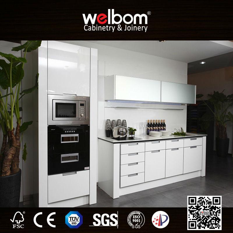 Knockdown Kitchen Cabinets: Welbom White High End Knock Down Kitchen Cabinets