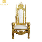 Royal Wedding Wholesale Luxury Royal High Back Chair King Throne Chair For Wedding Bride And Groom Chair