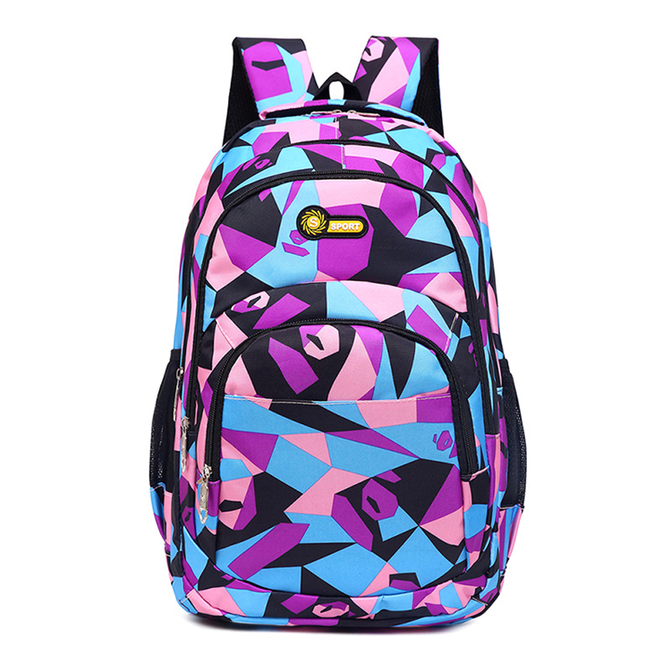 imported durable different models backpack school bags for high school girls