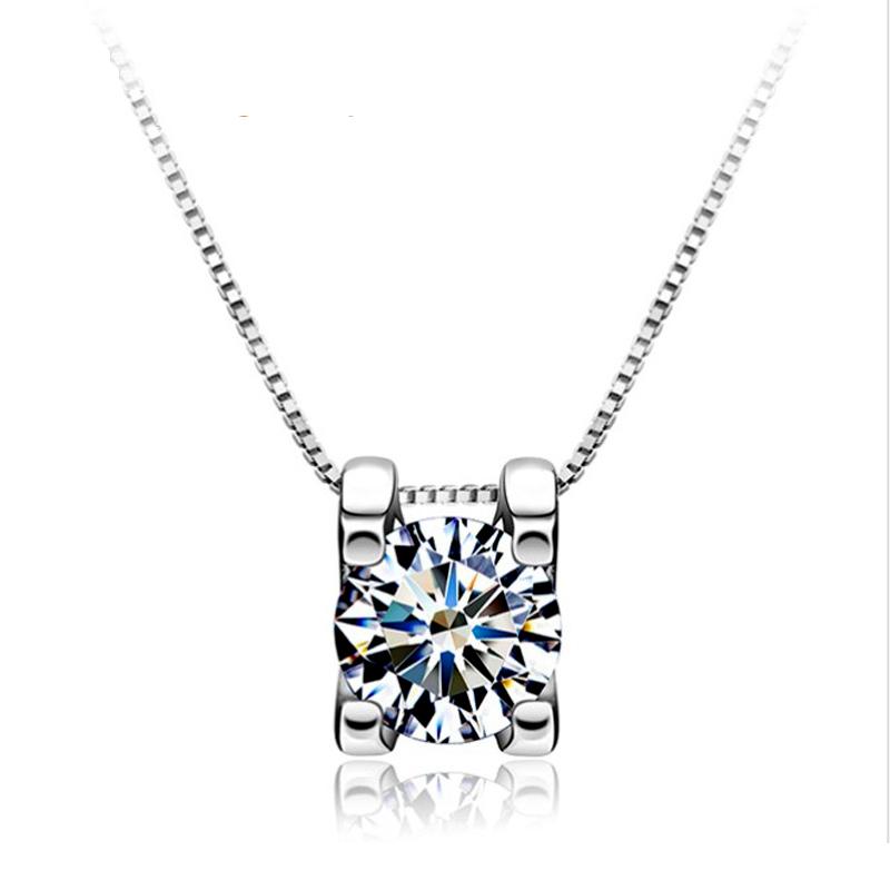Genuine 925 Pure Sterling Silver Elegant Simulated Diamond ...