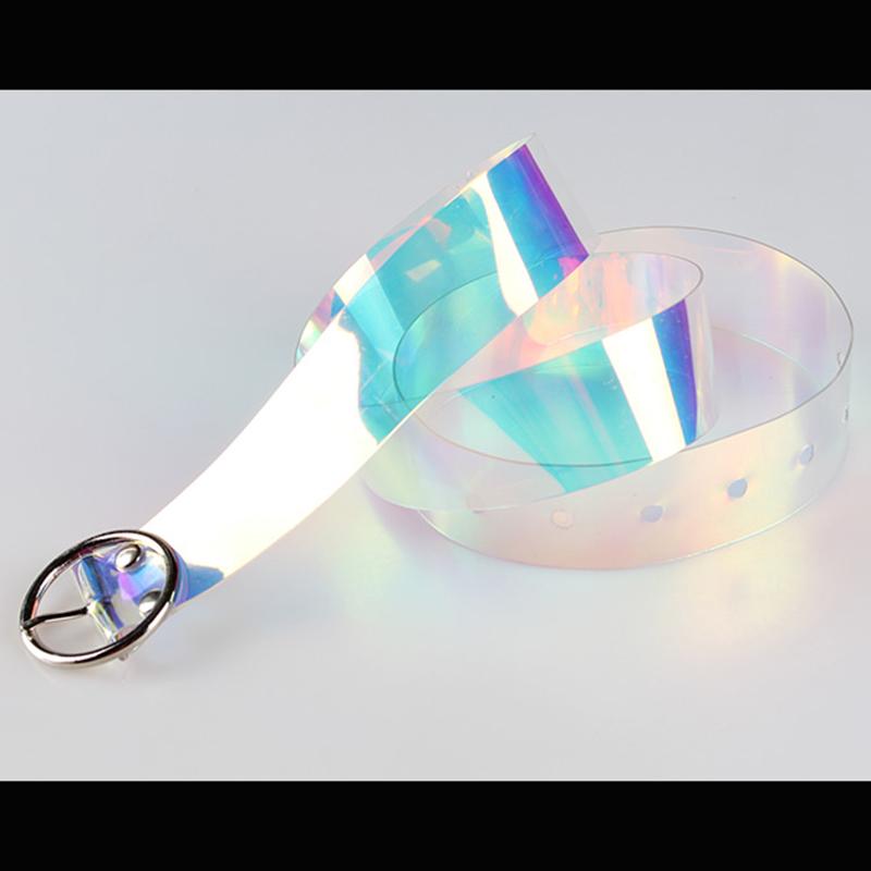 Хит продаж, Красочный Летний прозрачный пояс из ПВХ для женщин с пользовательским логотипом