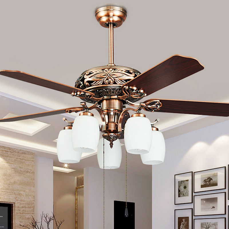 Country Ceiling Fans With Lights