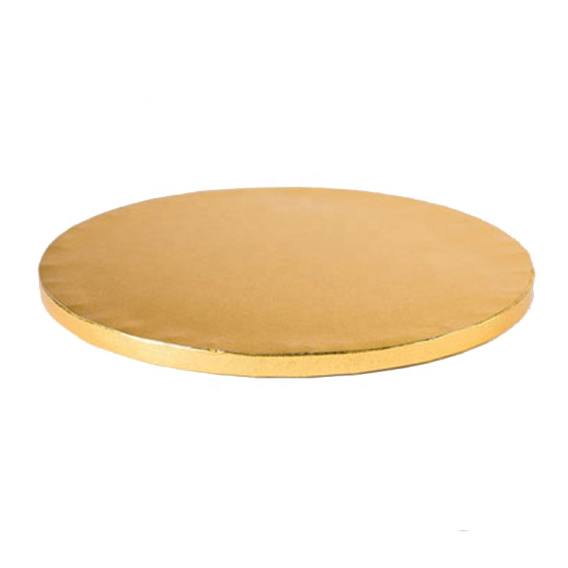 customized round gold strong MDF cake boards for heavy cake