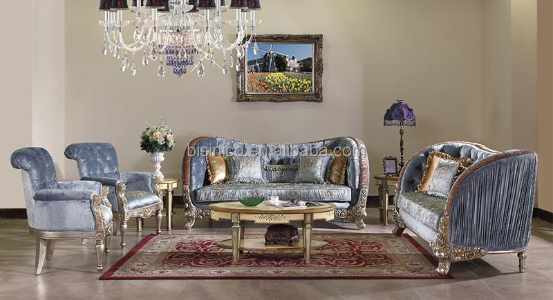 Palace Retro Living Room Sofa Set Unique Design Solid Wood