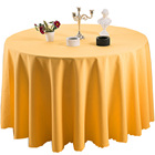 600430 Polyester Sequence Satin Table Cloth Logo Making Machine Solid Color