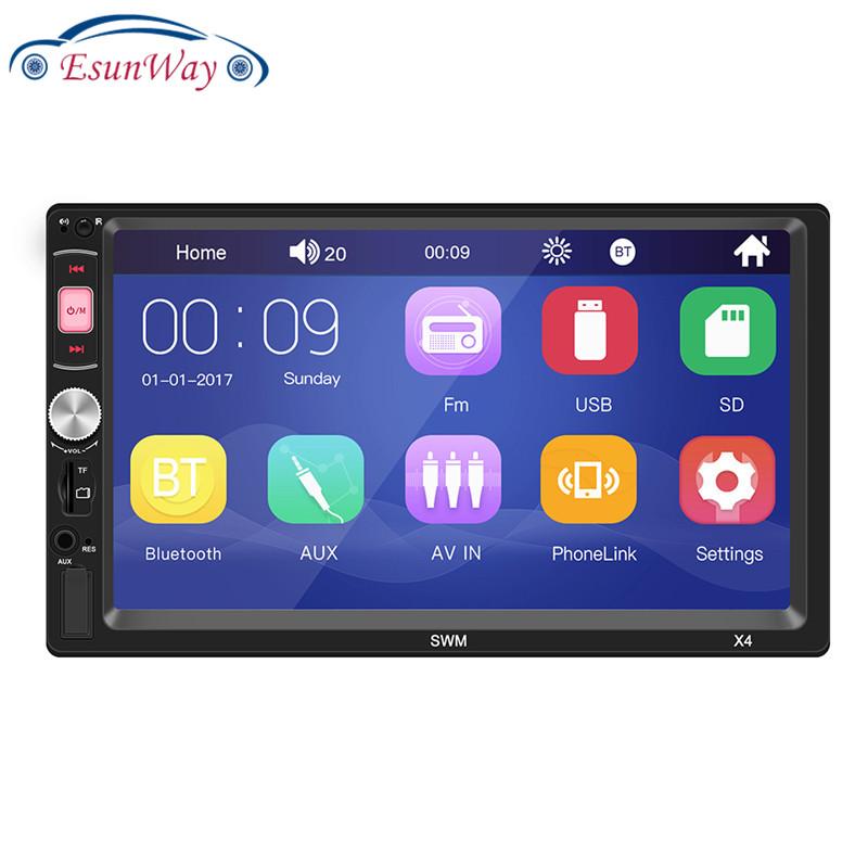 X4 2Din 7 дюймов радио автомобиль MP5 зарядное устройство для автомобиля с сенсорным экраном IOS и Android Зеркало Ссылка мультимедийный проигрыватель