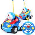 New safe toys RC car Doraemon toy Action figure musical light Car toy model Anime cartoon