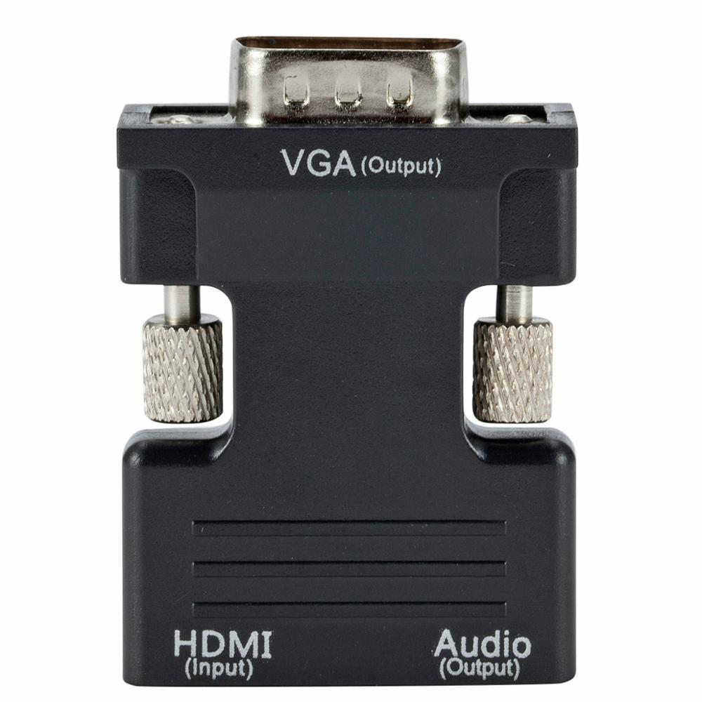 HDMI Female to VGA Male Converter+Audio Adapter 1080P HDTV to VGA Converter with Audio Output Cable
