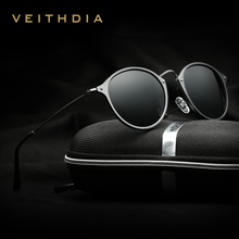 VEITHDIA Brand Fashion Unisex Sun Glasses Polarized Coating Mirror Driving Sunglasses Round Male Eyewear For Men/Women 6358