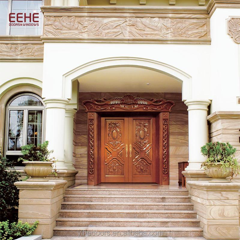 Modern Main Door Design Super Size Wooden Exterior Double Door Buy Wooden Double Doors Exterior Main Door Design Super Size Commercial Exterior Double Door Product On Alibaba Com