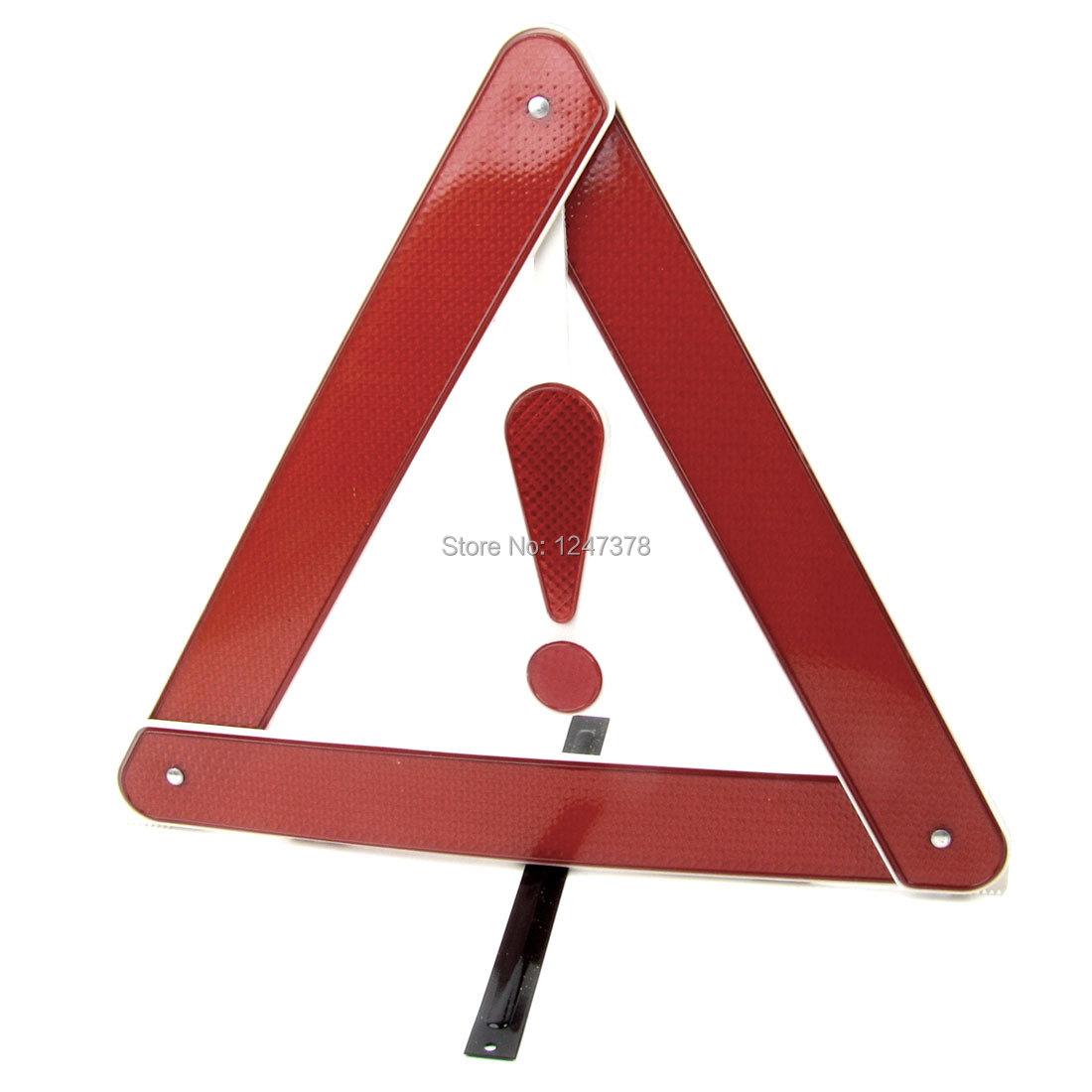Шоссе аварийного выдвижной знак треугольник стенд красный белый w желтый ящикм для авто