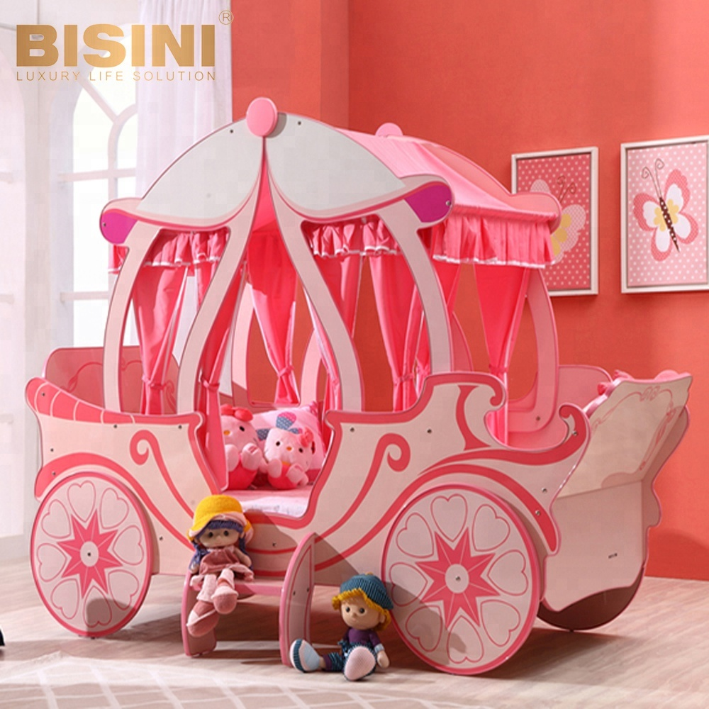Bisini European Castle Bed Design Cinderella Pumpkin Coach Bed Pink Princess Carriage Children Bed Bf07 70086 Buy Bed New Luxury Child Bed Wooden Bed Product On Alibaba Com