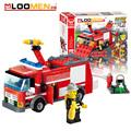 Cool Police car Fire engines Transport Dumper Truck DIY Model Building Blocks Build Shapes Educational Toys