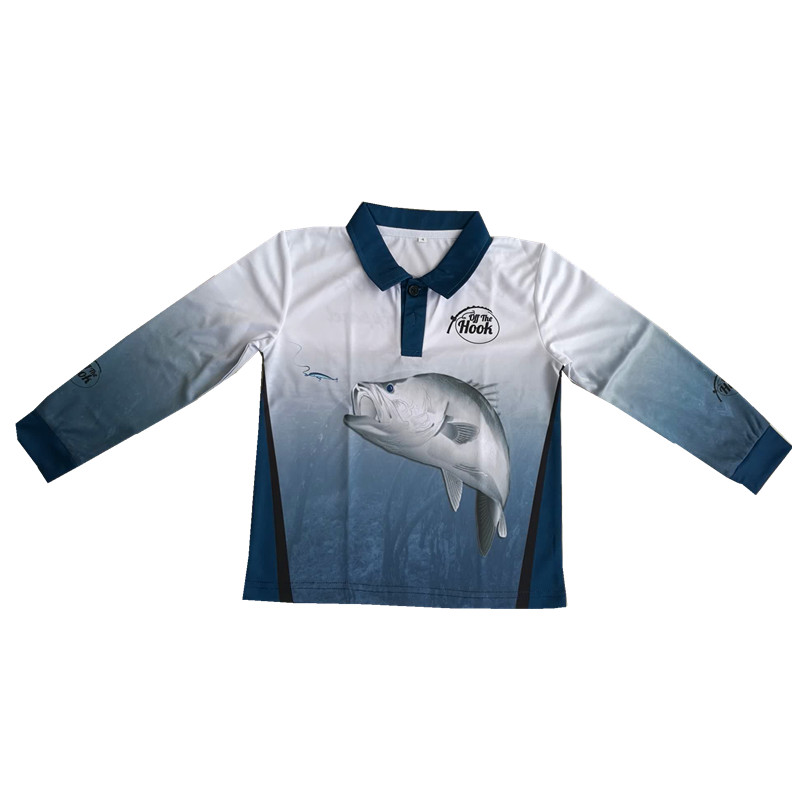 uv protection quick dry long sleeve sublimated fishing jerseys