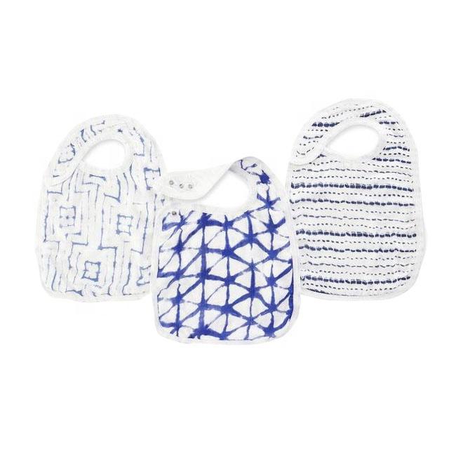 wholesale Customize 6 Layers Muslin Newborn Infant Baby Bibs Burp Cloths