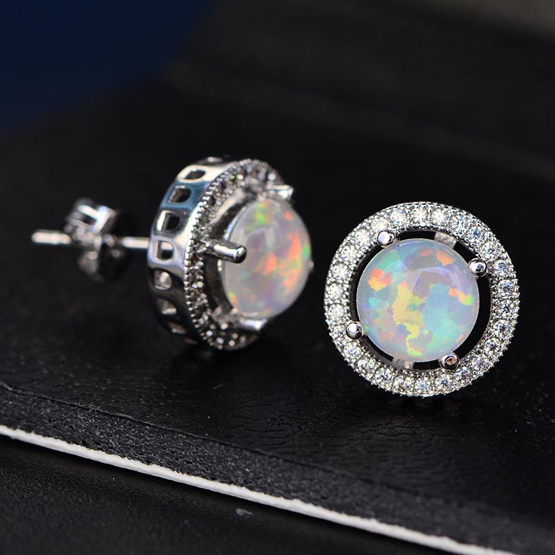 Opal Gift,Multi-Color Opal,Blue Opal Opal pendant Opal jewellery,Silver Opal Pendant,Diamond,Opal Necklace,Woman Australian Opal Pendant