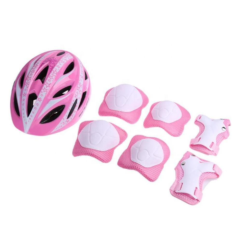 Color : Red Protective Gear Set 7pcs//Set Protective Gear Set Adult Knee Pads Elbow Pads Wrist Protector Protection Helmet for Scooter Cycling Roller Skate